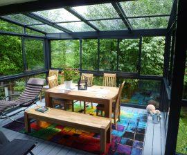 Sommergarten auf Balkon